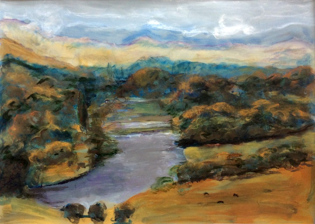 Amanda Adrian   The journey begins upper reaches of the Murray River