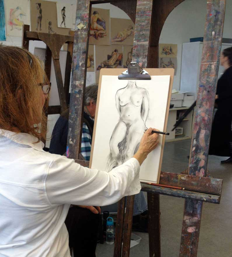 Leoni Mayes with Drawing