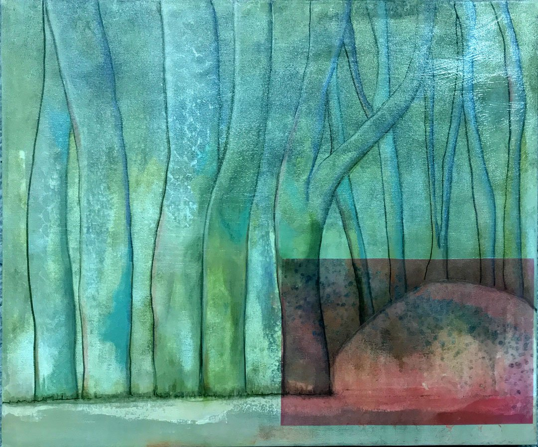 Sallie Saunders The Pink Lake Acrylic on canvas