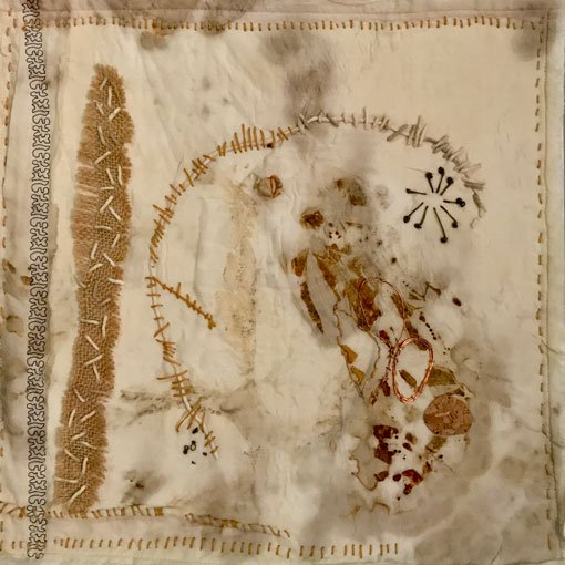 Sallie Saunders   Stitch musings   Textile copper wire   mixed media